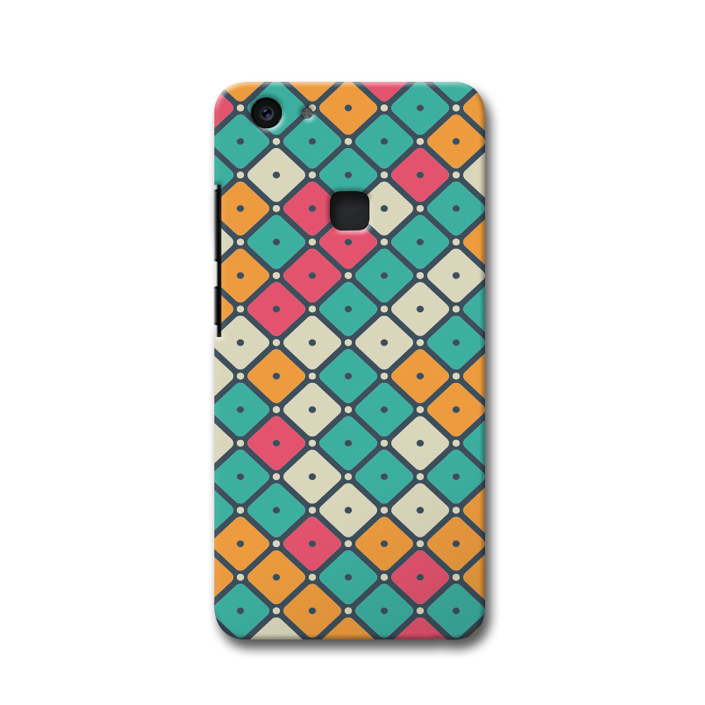Colorful Tiles with Dot Vivo V7 Plus Case
