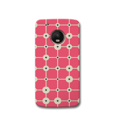 Pink & White Abstract Design Moto G5s Case
