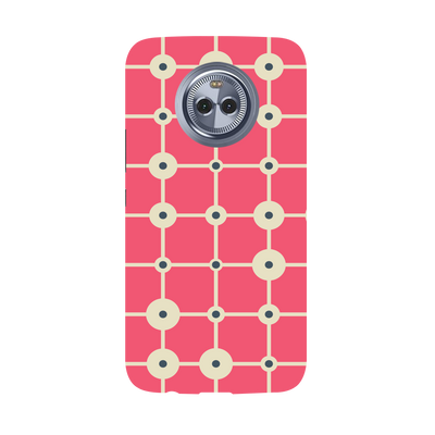 Pink & White Abstract Design Moto X4 Case