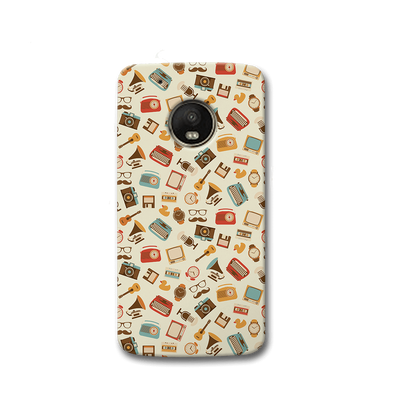 Vintage Elements Pattern Moto G5s Case