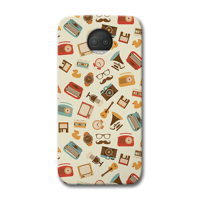 Vintage Elements Pattern Moto G5s Plus Case