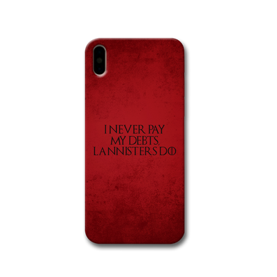 I NEVER PAY MY DEBTS Apple iPhone X Case