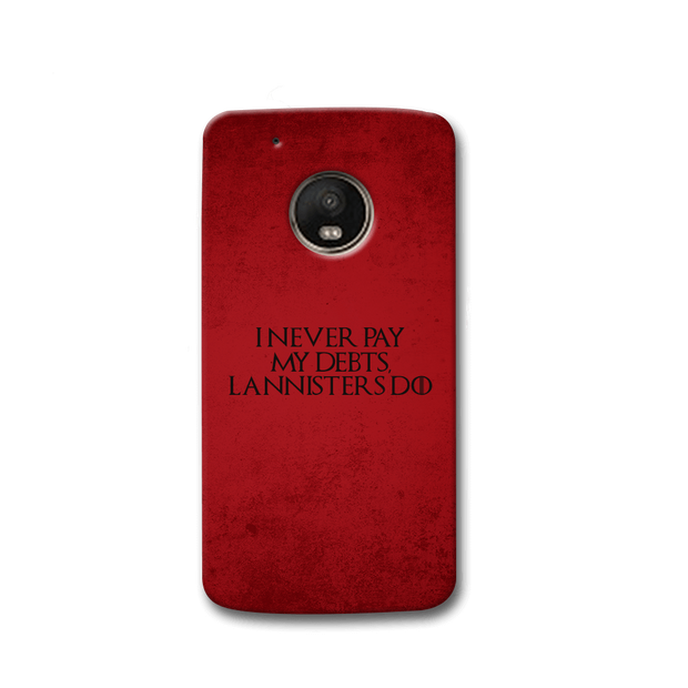I NEVER PAY MY DEBTS Moto G5s Case