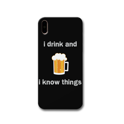 I Drink Apple iPhone X Case
