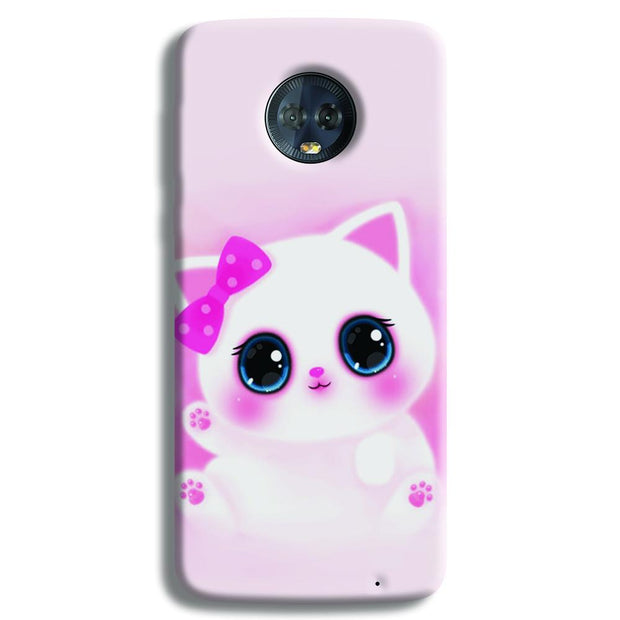Pink Cat Moto G6 Plus Case