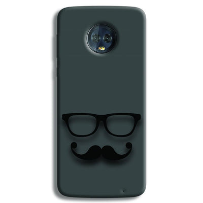 Cute mustache Gray Moto G6 Plus Case