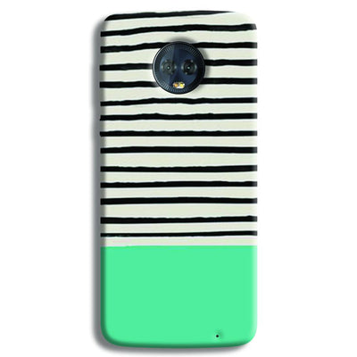 Aqua Stripes Moto G6 Plus Case
