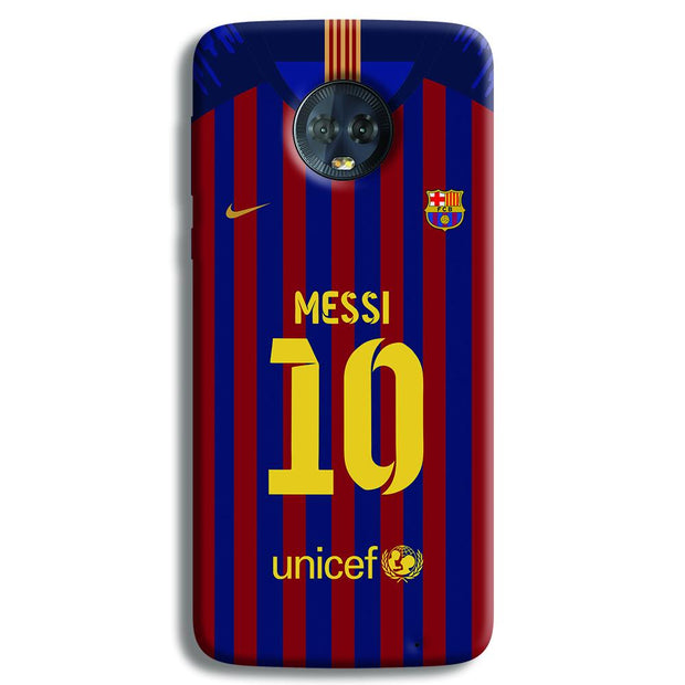 Messi (FC Barcelona) Jersey Moto G6 Plus Case