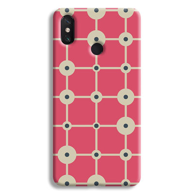 Pink & White Abstract Design Mi Max 3 Case