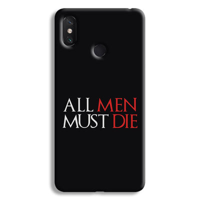 ALL MEN MUST DIE Mi Max 3 Case