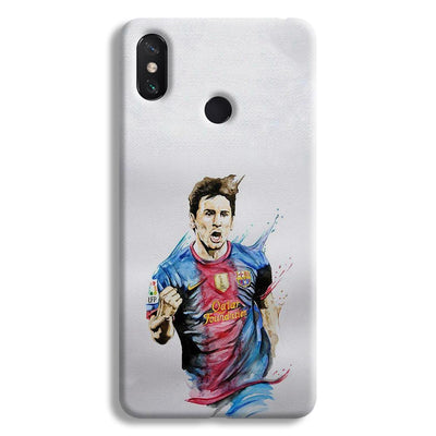 Messi White Mi Max 3 Case