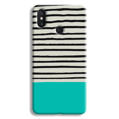 Aqua Stripes Mi Max 3 Case