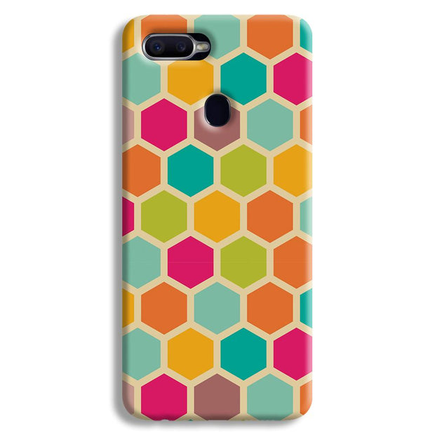 Hexagon Color Pattern Oppo F9 Case
