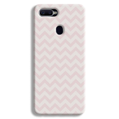 Light Pink Chevron Pattern Oppo F9 Case