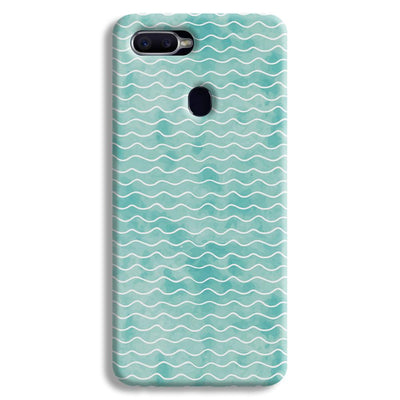 Wavy Blue Pattern Oppo F9 Case