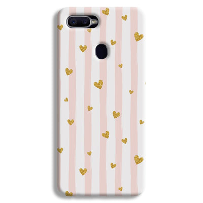 Cute Heart Pattern Oppo F9 Case