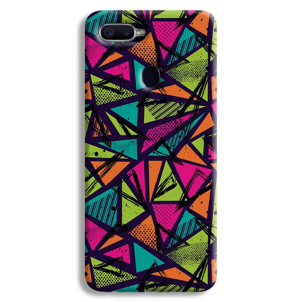 Geometric Color Pattern Oppo F9 Case