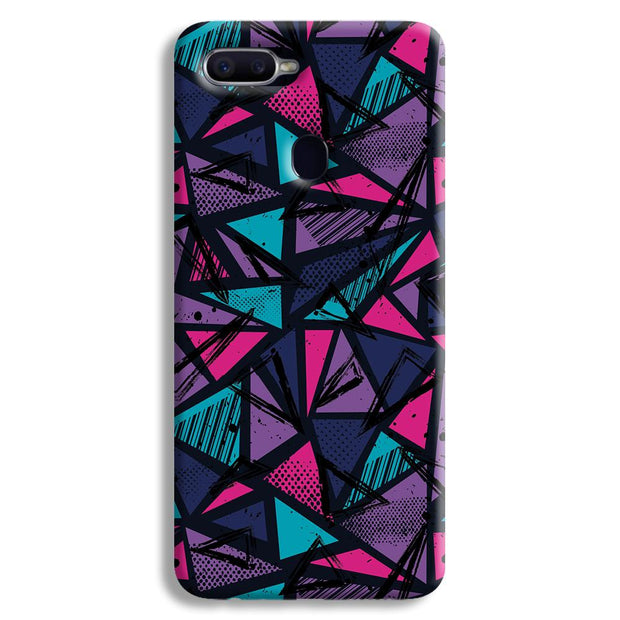 Blues Pattern Oppo F9 Case