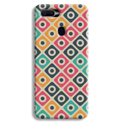 Shapes Pattern Oppo F9 Case