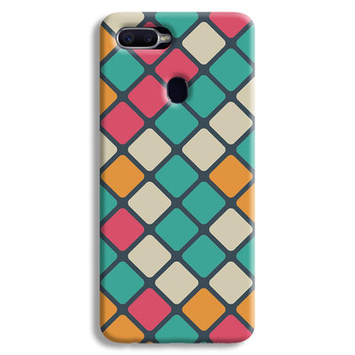 Colorful Tiles Pattern Oppo F9 Case