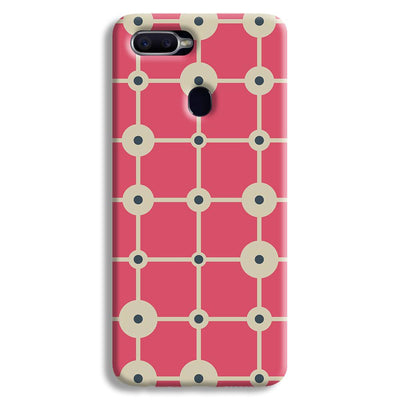 Pink & White Abstract Design Oppo F9 Case