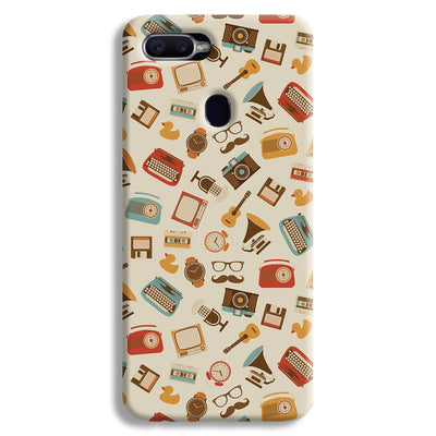 Vintage Elements Pattern Oppo F9 Case