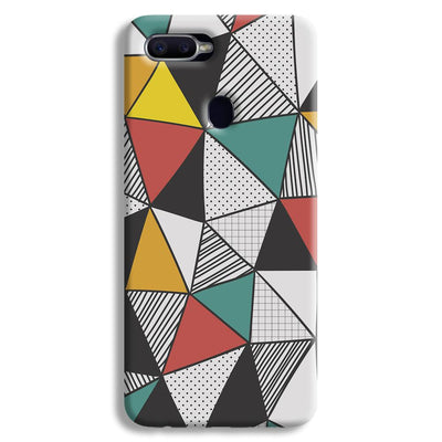 Triangle Abstract Pattern Oppo F9 Case