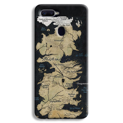 Game of Thrones Map Oppo F9 Case