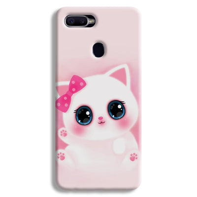 Pink Cat Oppo F9 Case