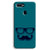 Cute mustache Blue Oppo F9 Case
