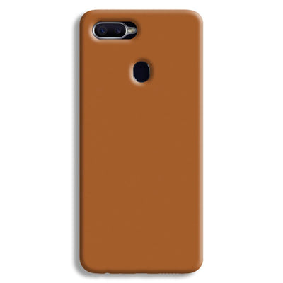 Light Brown Oppo F9 Case