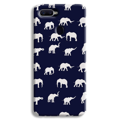 Elephant Pattern Oppo F9 Case