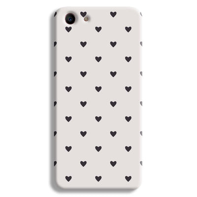 Black Heart Pattern Oppo A1 Case