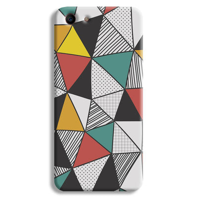 Triangle Abstract Pattern Oppo A1 Case