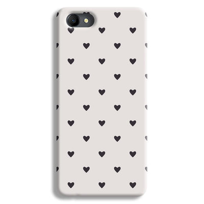 Black Heart Pattern Oppo A3 Case