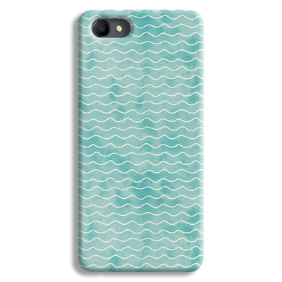 Wavy Blue Pattern Oppo A3 Case