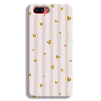 Cute Heart Pattern Oppo A3s Case