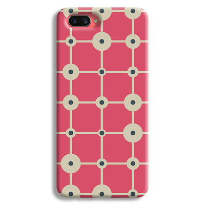 Pink & White Abstract Design Oppo A3s Case