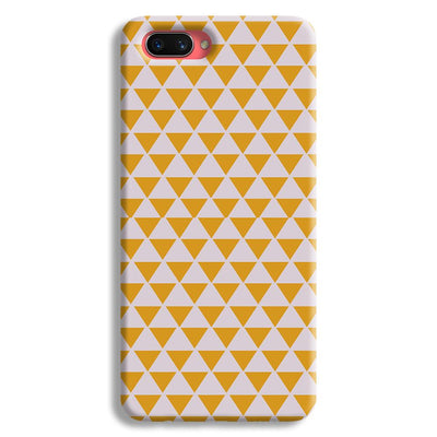 Yellow Triangle Oppo A3s Case