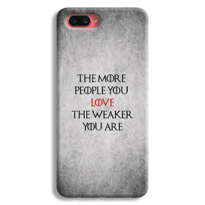 The More People Love You Oppo A3s Case