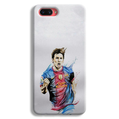 Messi White Oppo A3s Case