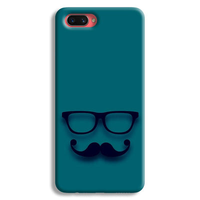 Cute mustache Blue Oppo A3s Case