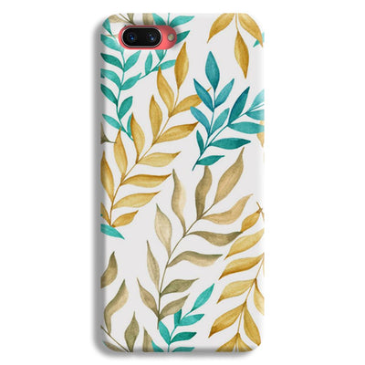 Tropical leaves  Oppo A3s Case