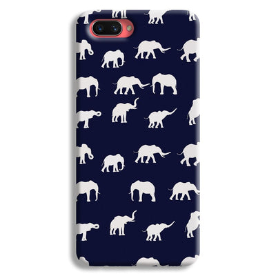 Elephant Pattern Oppo A3s Case