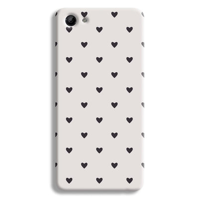 Black Heart Pattern Vivo Y83 Case