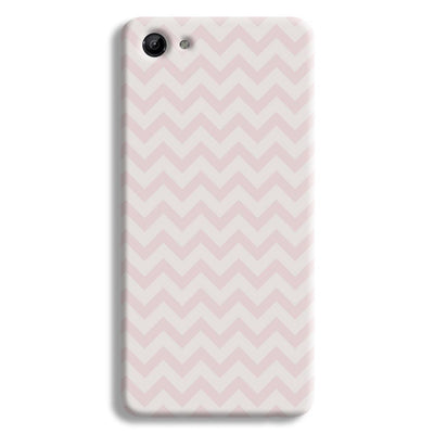 Light Pink Chevron Pattern Vivo Y83 Case