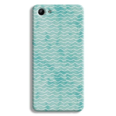 Wavy Blue Pattern Vivo Y81 Case