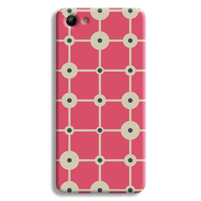 Pink & White Abstract Design Vivo Y83 Case