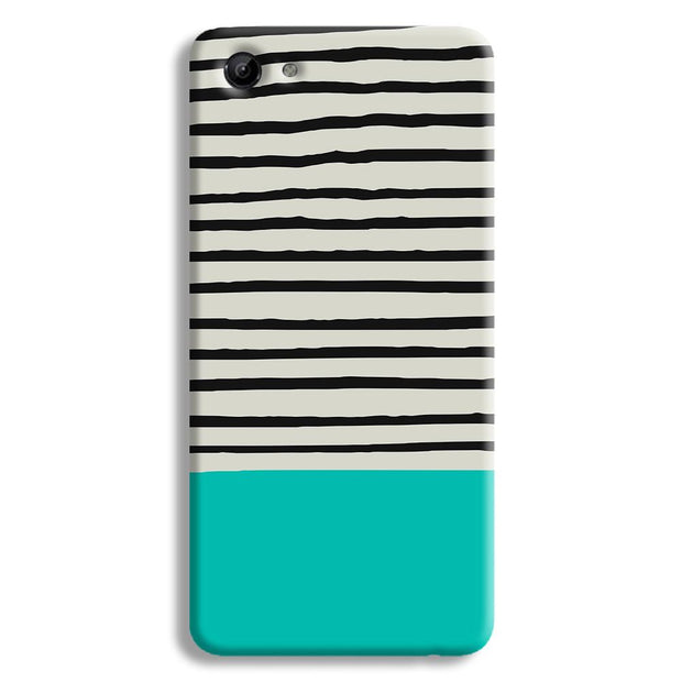 Aqua Stripes Vivo Y83 Case