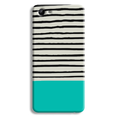 Aqua Stripes Vivo Y81 Case